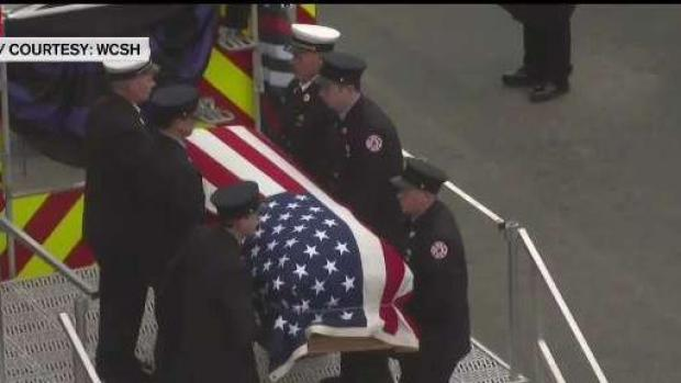 [NECN] Memorial Service Held for Maine Firefighter