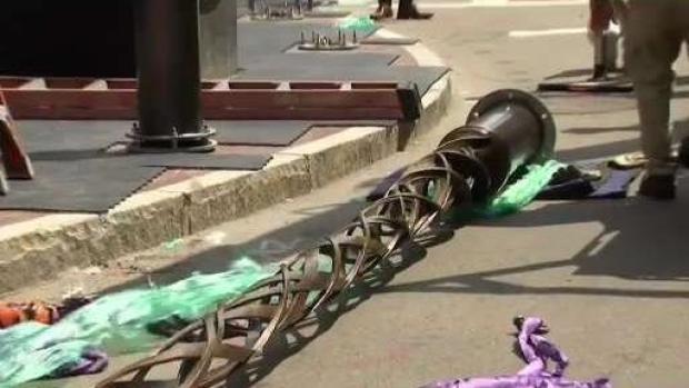 [NECN] Memorial to Boston Marathon Bombing Victims Takes Shape