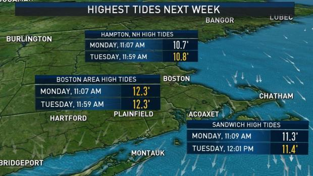 [NECN] Minor Coastal Flooding and Possible Snow