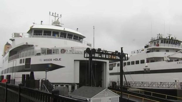 [NECN] Most Ferries Cancelled as Storm Lingers Off Coast