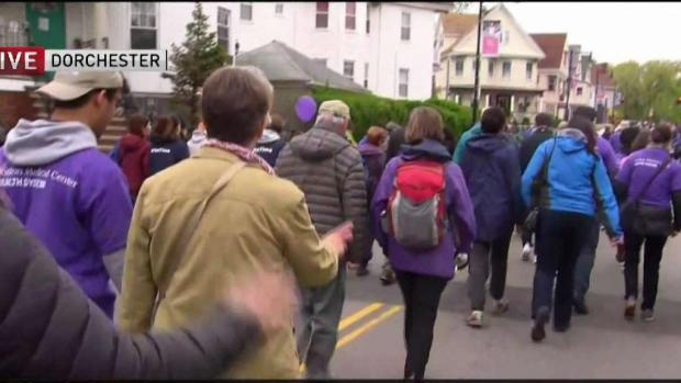 [NECN] The Mother's Day Walk for Peace Underway