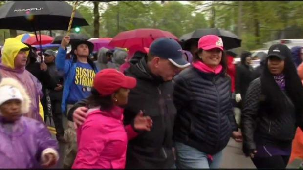 [NECN] Walkers Get Ready For Mother's Day Walk for Peace