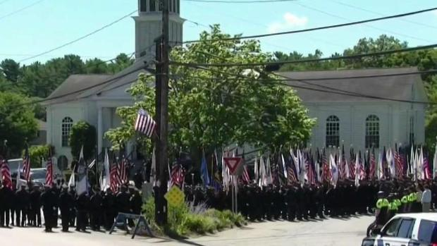 [NECN] Mourners Gather for Slain Weymouth Police Sgt.