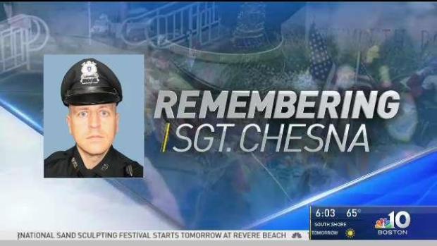[NECN] Mourners Prepare for Wake of Sgt. Michael Chesna