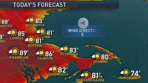 [NECN] Weather Forecast: Near Record Heat Ahead
