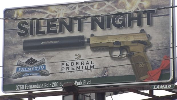 Christmas-themed Gun Billboards Draw Criticism