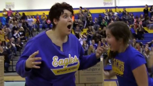 Mom Wins Half-Year Tuition by Sinking Half-Court Shot