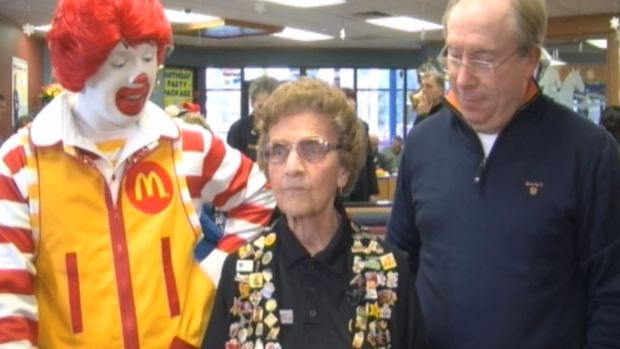 McDonald's Honors Oldest Employee, 95-Year-Old Harriett