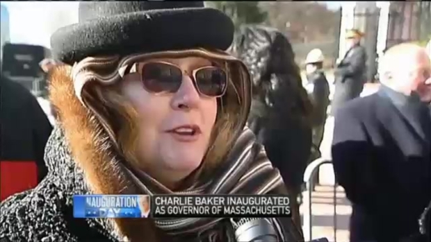 [NECN] Baker Supporters Brave Extreme Cold During His Inauguration