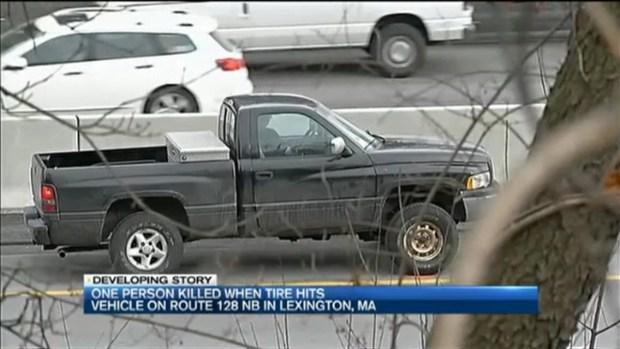 [NECN]Tire Flies Off Truck, Killing 1 in Lexington, Massachusetts