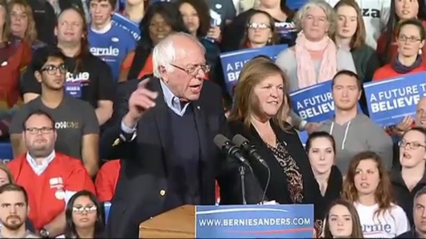 [NECN]Bernie Sander's Speaks to Vermont After Victory