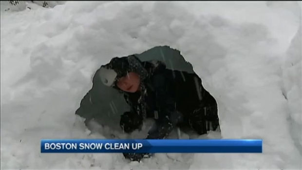[NECN] Children, Pets Make Most of Snow in Boston