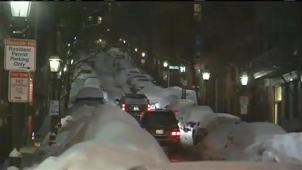 [NECN] New Englanders Urged to Stay Off Roads Monday