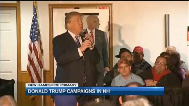 [NECN]Trump Continues Campaign Before Primary