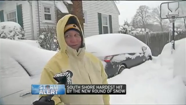 [NECN] South Shore Hardest Hit From New Round of Snow