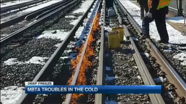 [NECN] Bitter Cold Snarls MBTA Passengers in Delays