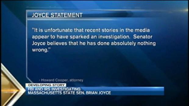 [NECN] FBI, IRS Raids Law Offices of State Senator Brian Joyce