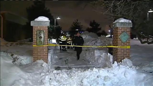 [NECN] Roof Avalanche Dumps Snow on Passersby, 2 Hospitalized