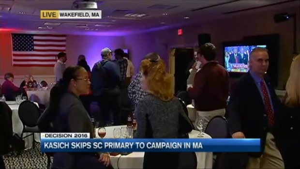 [NECN] During South Carolina Republican Primary, John Kasich Campaigns in Massachusetts, Vermont