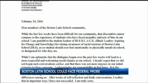 [NATL-NECN] Boston Latin School Could Face Federal Investigation