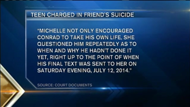 [NECN] High School Student Charged With Manslaughter Friend's Suicide