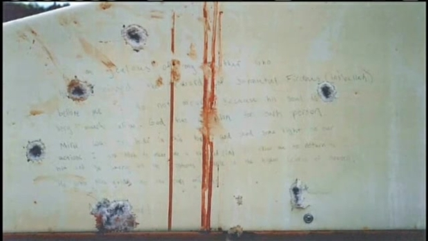 [NECN] Jurors Shown Tsarnaev's Blood-Stained Boat Writings