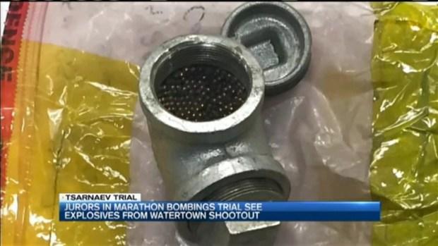 [NECN] Jury Sees Pipe Bombs Used in Tsarnaev Manhunt