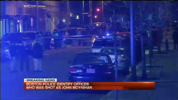 [NECN] Police Officer Wounded, Suspect Dead in Boston Shooting
