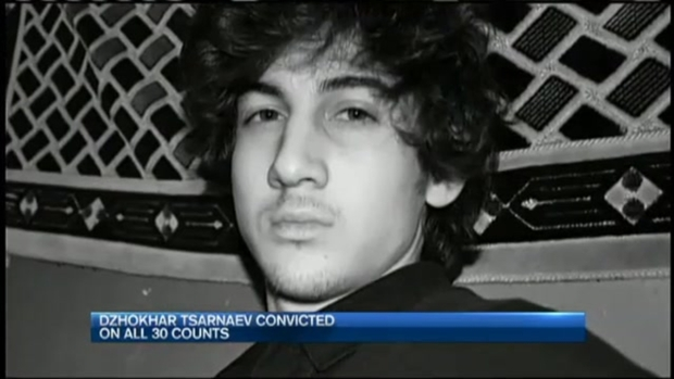 [NECN] Boston Marathon Bombing Trial: Tsarnaev Guilty on All Counts, Could Face Death
