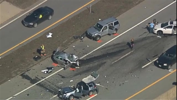 Raw Video of Massive Crash Scene in NH