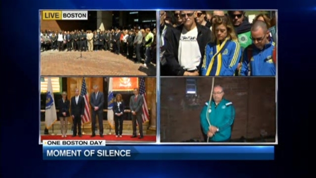 [NECN] Boston Observes a Moment of Silence at 2:49 p.m.