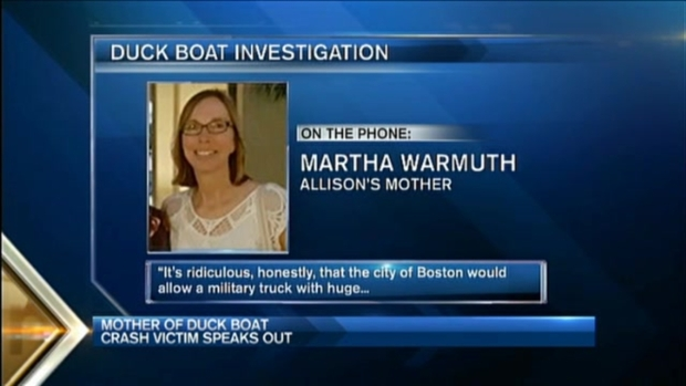 [NECN] 'That Should Never Be': Mother of Boston Duck Boat Crash Victim Speaks Out