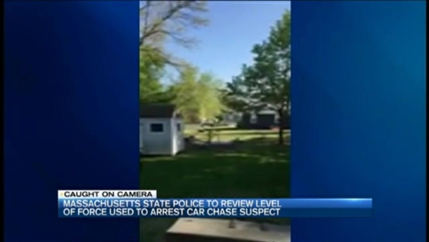 [NECN] Police Seen Punching Suspect on Ground After High-Speed Police Chase Through 2 States