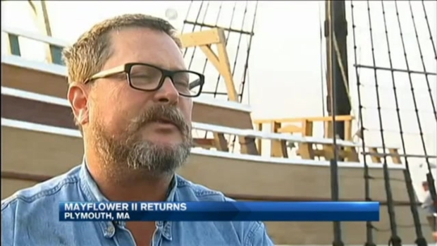 [NECN]Mayflower II, Replica of Pilgrim Ship, Returning to Plymouth