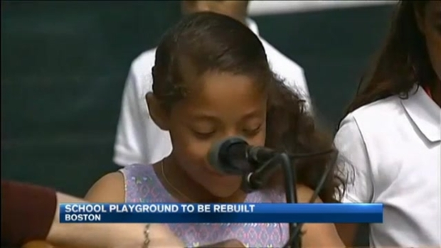 [NECN] Students Thank Community Members for Efforts to Rebuild Playground Destroyed by Arson