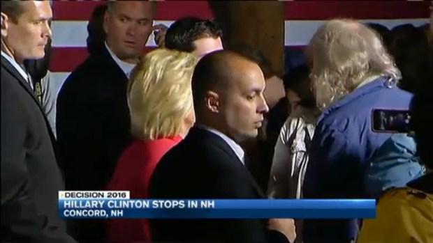 [NECN] Hillary Clinton Campaigns in New Hampshire