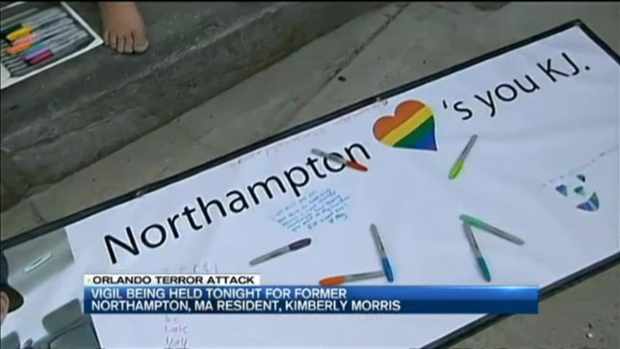 [NECN] Vigil Held in Massachusetts for Orlando Victim