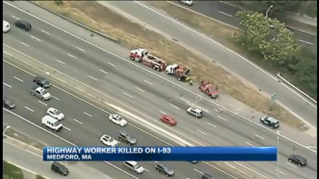 [NECN]PD: Drunk Driver Strikes, Kills Highway Worker on I-93