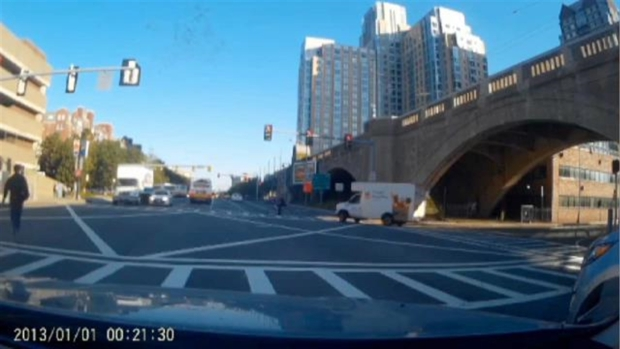 [NECN] WATCH: MBTA Bus Runs Red Light on Wrong Side of Road