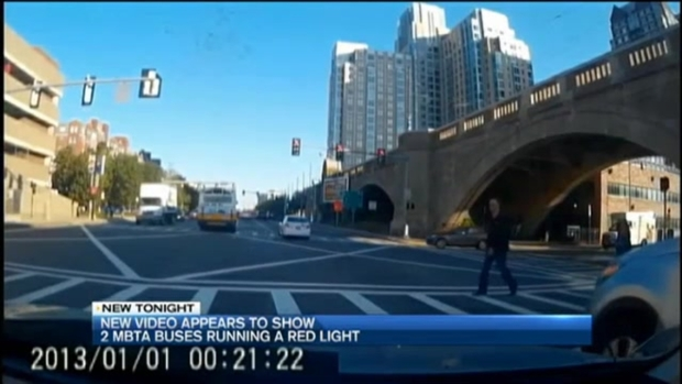 [NECN] 'They Probably Shouldn't Be Driving': Bus Runs Red Light on Wrong Side of Road