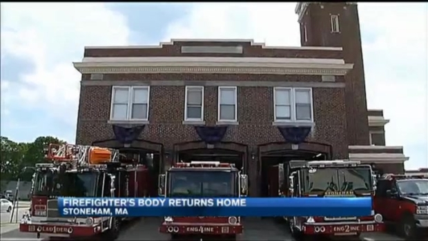 [NECN] Family Remembers Slain Firefighter as His Remains Come Home