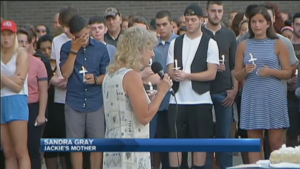 [NECN] Two Vigils Honor Milford Teen Killed in Car Crash