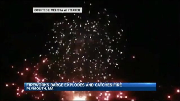 [NECN] Officials Investigating Barge Explosions at Fireworks Display