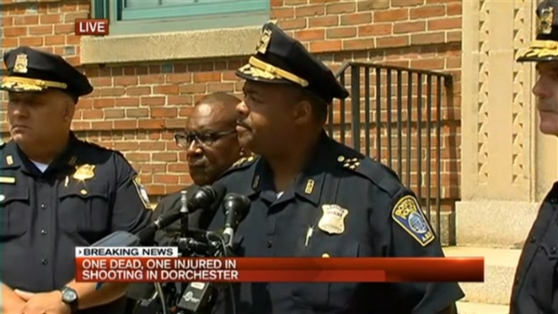 [NECN] Police Discuss Fatal shooting in Boston's Dorchester Neighborhood