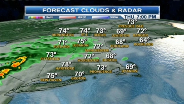 [NECN] Weather Forecast: Clouds, Storms Later