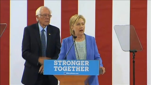 [NECN]VIDEO: Hillary Clinton Speaking After Bernie Sanders' Endorsement