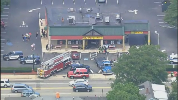 [NECN]  4 Hospitalized After Vehicle Goes Into Restaurant in Quincy, Massachusetts