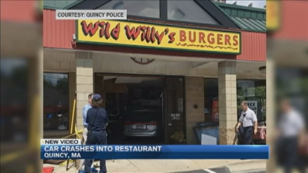 [NECN] Driver Crashes Through Restaurant Injuring Patrons