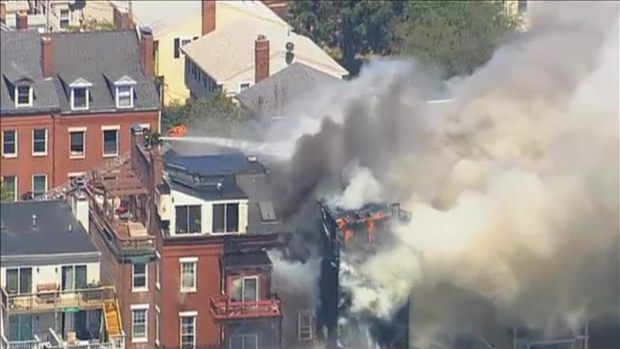 [NECN] 6-Alarm Fire in Charlestown