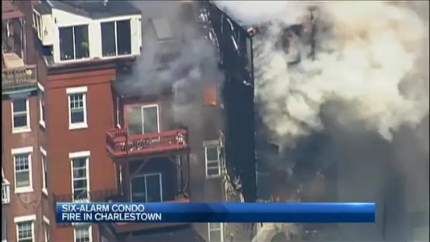 [NECN] Fire Rips Through Condos in Boston's Charlestown Neighborhood